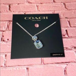Coach Jewelry - Coach Blue Rhinestone Necklace